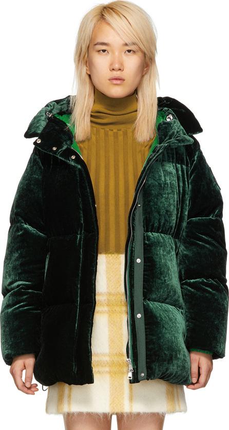 Moncler Green Velvet Butor Down Jacket