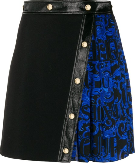 Versace Jeans Couture Contrast pleated mini skirt