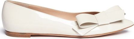 Gianvito Rossi 'Kyoto' bow patent leather skimmer flats