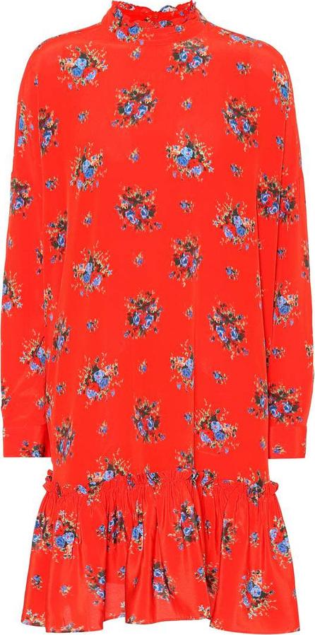 Ganni Kochhar floral silk minidress