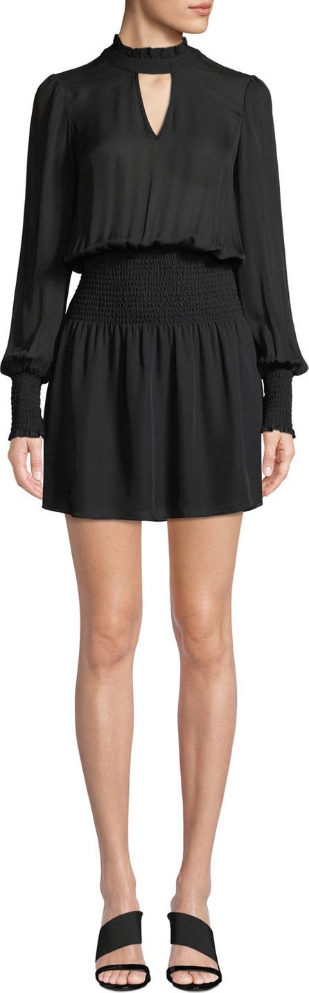 Parker Robyn Smocked High-Neck Short Dress