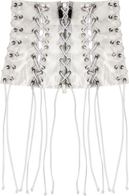 Unravel PVC All Over Lace Up Corset