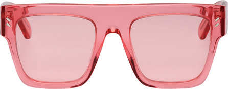 Stella McCartney Pink Oversized Flat Top Sunglasses