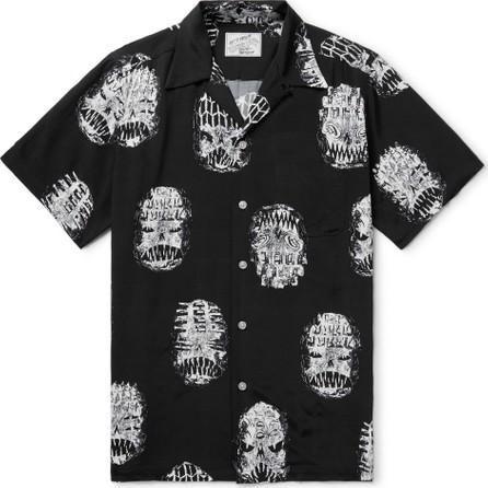 Wacko Maria + Neck Face Camp-Collar Printed Matte-Satin Shirt