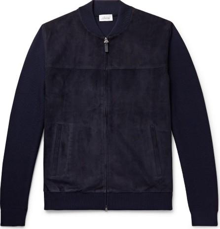 Brioni Slim-Fit Suede and Virgin Wool Bomber Jacket