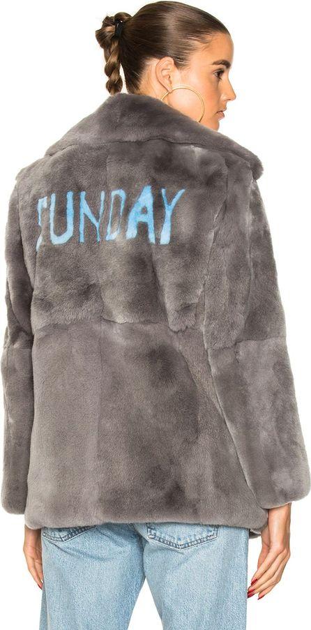 Alberta Ferretti Sunday Rabbit Fur Coat