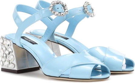 Dolce & Gabbana Embellished patent leather sandals