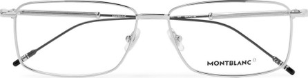 Montblanc Rectangle-Frame Silver-Tone Optical Glasses