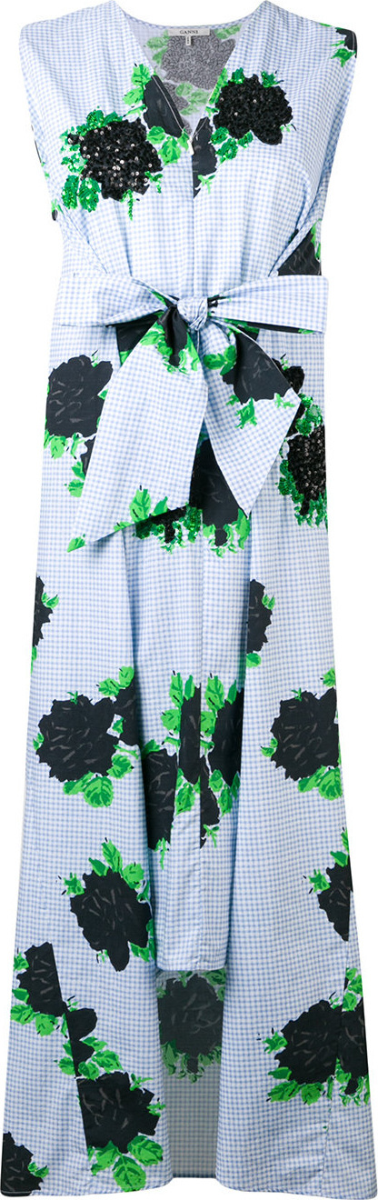 Ganni Knot front floral dress