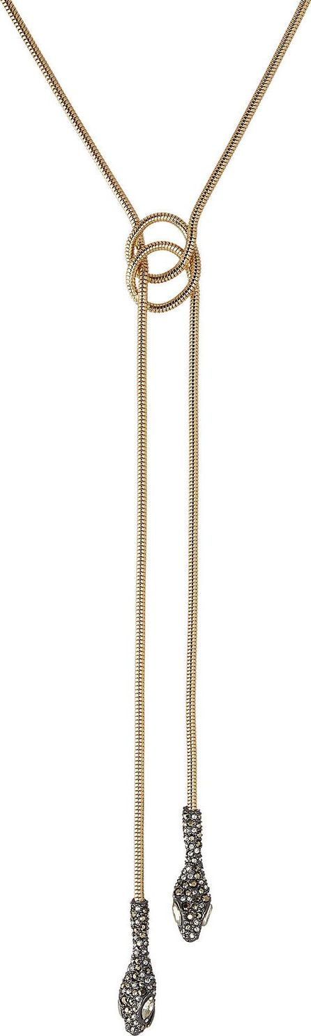 Alexis Bittar 10kt Gold Necklace with Crystals