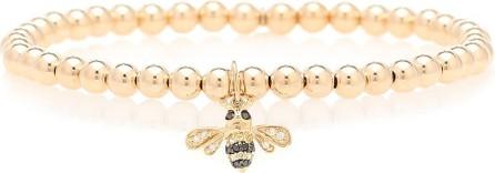Sydney Evan Bumblebee 14kt gold beaded bracelet