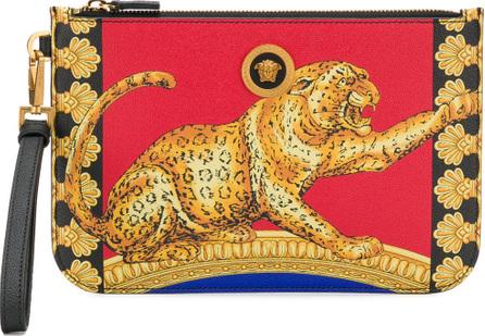 Versace Cheetah print pouch