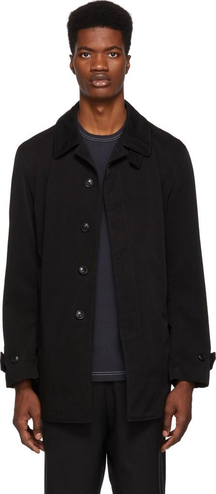 Comme des Garçons Homme Black Laminated Twill Jacket