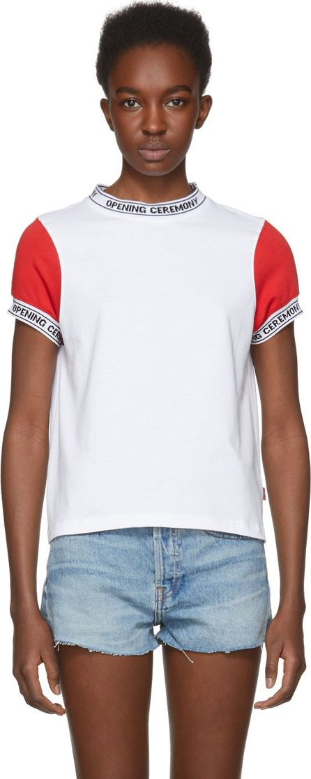 Opening Ceremony White & Red Limited Edition Logo Banded T-Shirt