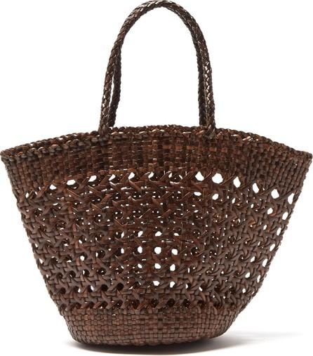 Dragon Diffusion Myra woven-leather handbag