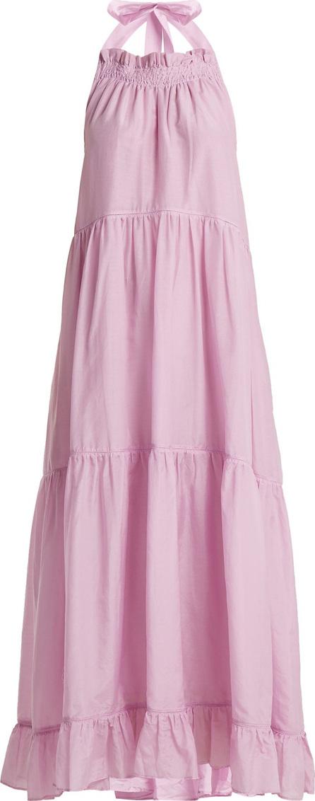 Lee Mathews Minnie halterneck cotton-blend dress