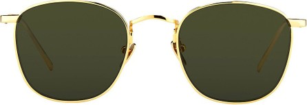 Linda Farrow Gold Square Sunglasses