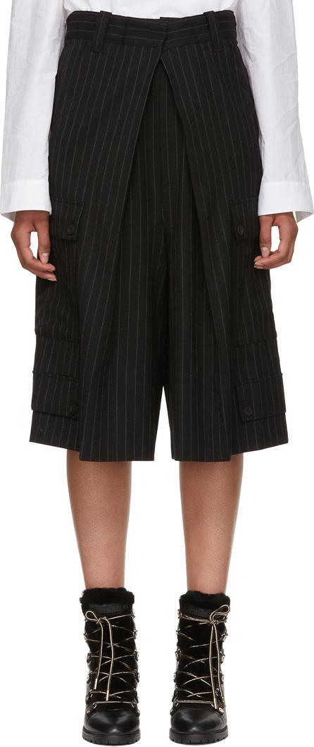 J.W.Anderson Black Pinstripe Wide-Leg Trousers