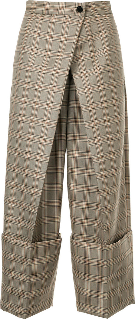 Astraet Checked cropped trousers