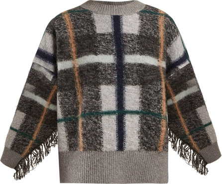 Stella McCartney Tassel-trim check knitted sweater