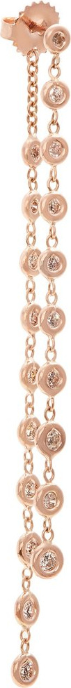 Jacquie Aiche Diamond rose-gold single earring