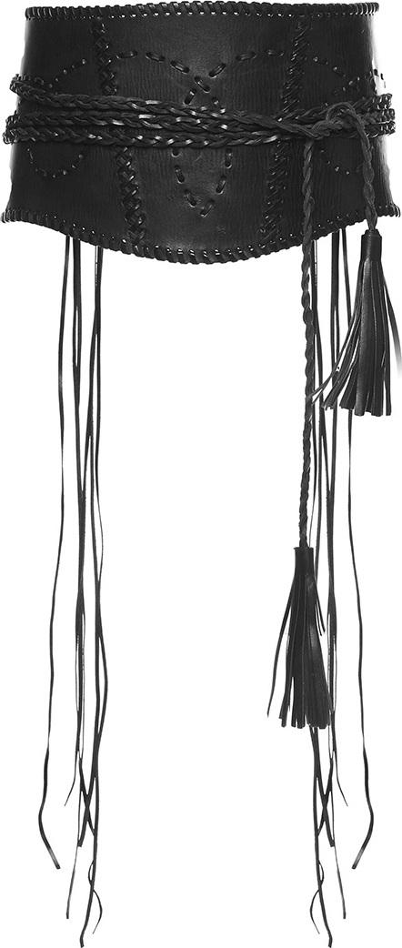 Alberta Ferretti Wide Leather Braided Belt