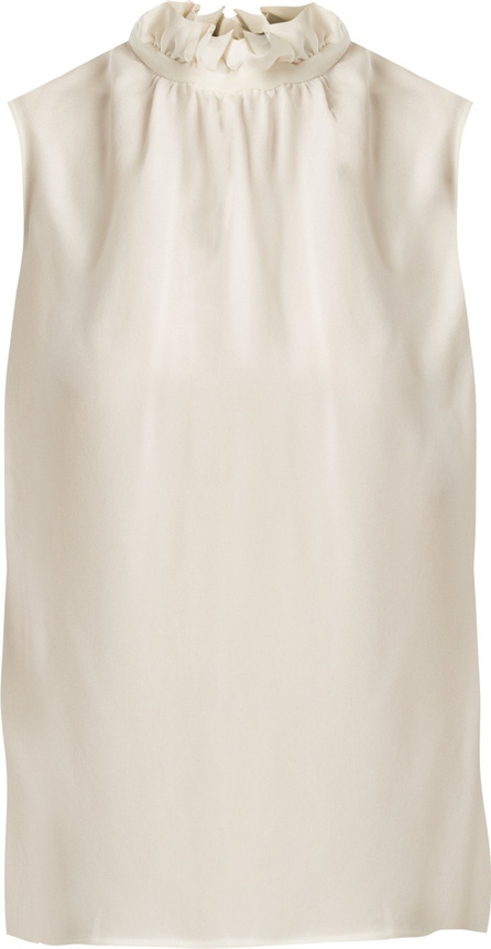 Goat Fenella ruffled-neck sleeveless silk top