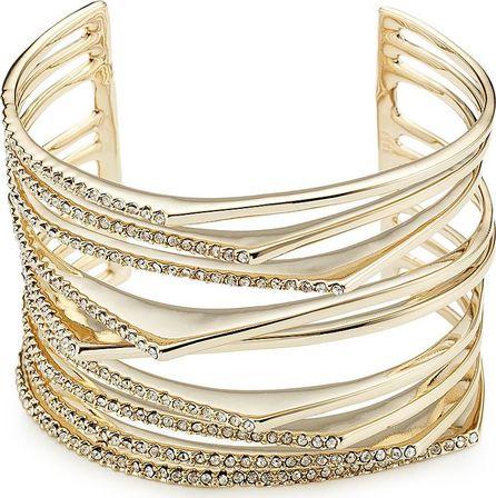 Alexis Bittar 10kt Gold Bracelet with Crystals