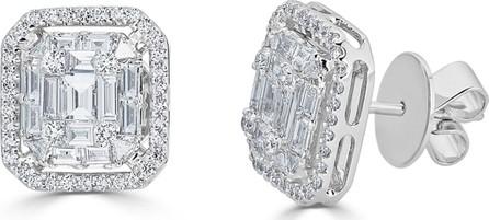 ZYDO 18k Mosaic Mixed-Cut Diamond Stud Earrings, 1.43tcw
