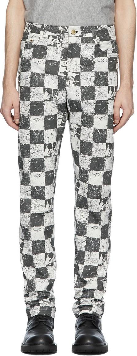 Palomo Spain Black & White Check Trousers