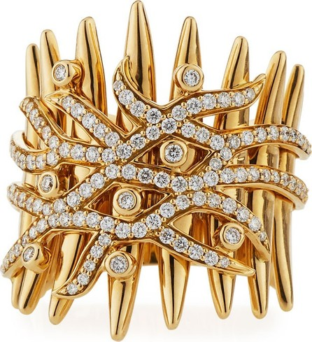Hueb Tribal 18k Gold Diamond Ring