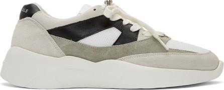 Essentials Grey & Green Distance Sneakers