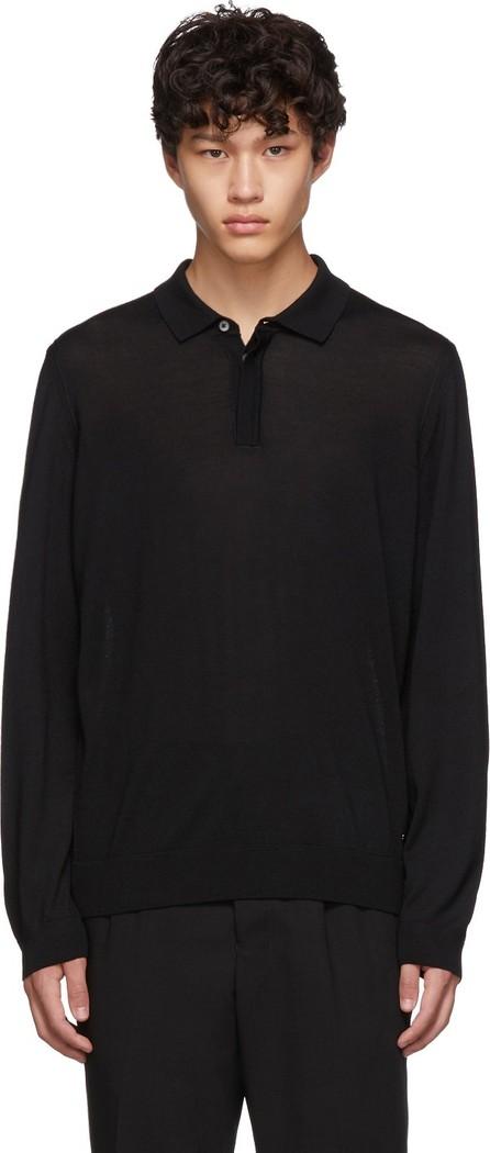 BOSS Hugo Boss Black Silk T-Eberto Knitted Polo
