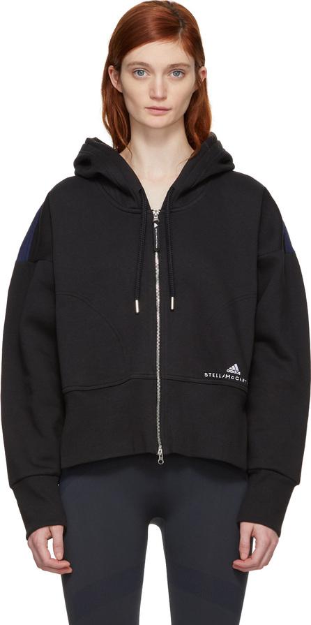 Adidas By Stella McCartney Black & Navy Ess Two-Tone Hoodie