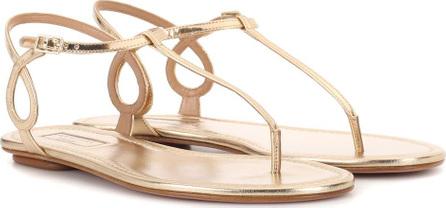 Aquazzura Almost Bare leather sandals