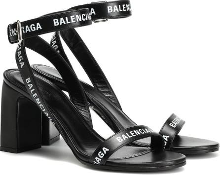 Balenciaga Logo leather sandals