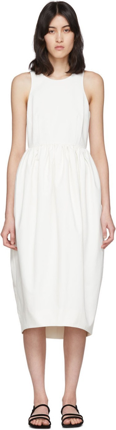 EDIT White Racer Back Puff Dress
