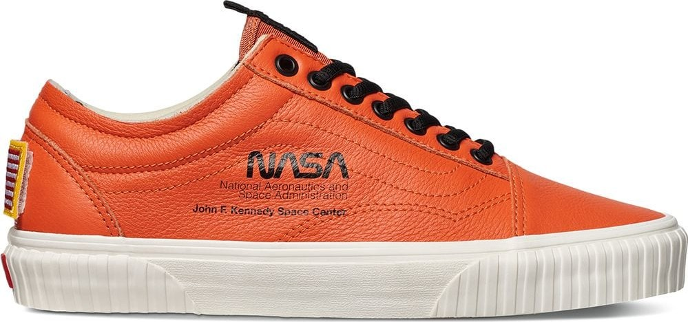 Vans Orange and black nasa old skool space voyager firecracker sneakers f247cde2f
