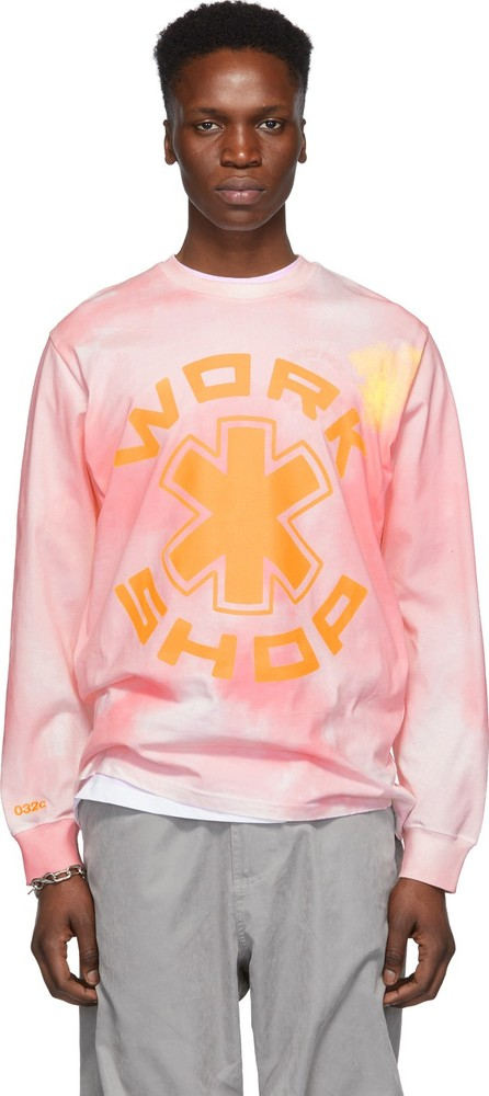 032c Pink Cosmic Workshop Long Sleeve T-Shirt