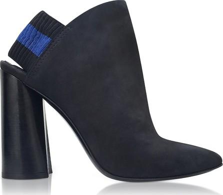 3.1 Phillip Lim Drum Black Leather Slingback Boots w/Elastic