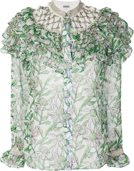 DODO BAR OR Floral print ruffle trim shirt