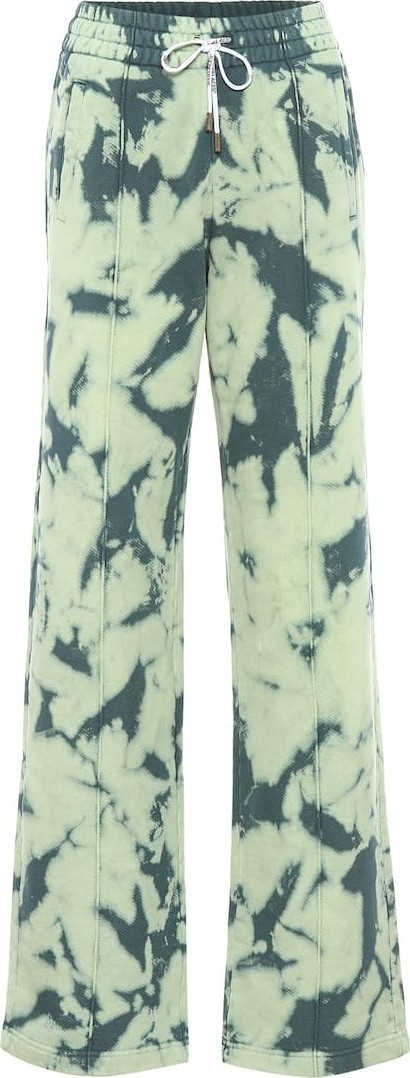 Off White Tie-dye printed cotton trackpants