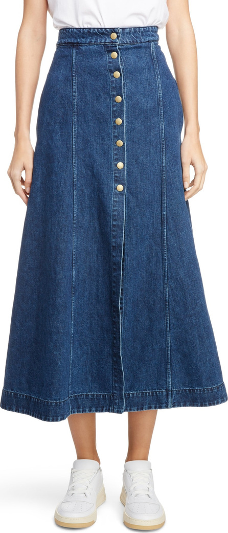 Acne Studios Snap Front Denim Skirt