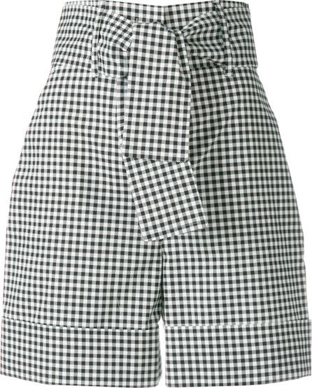 Sara Battaglia Belted vichy shorts