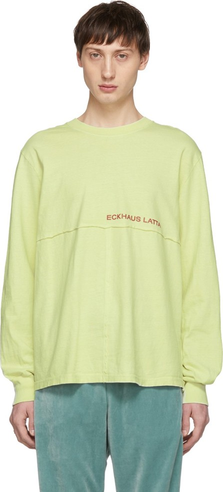 Eckhaus Latta Green Lapped Long Sleeve T-Shirt