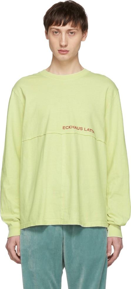 Eckhaus Latta Green Lapped Long Sleeve T-Shirt