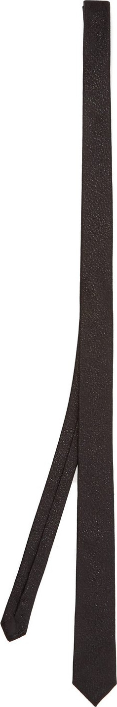 Saint Laurent Metallic-threaded silk-blend tie