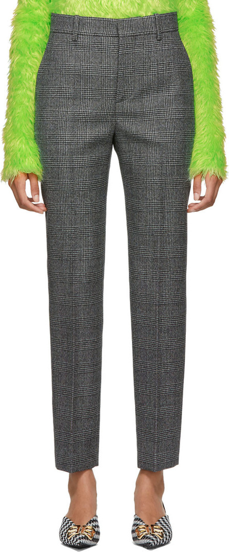Balenciaga Black & White Houndstooth Carrot Trousers