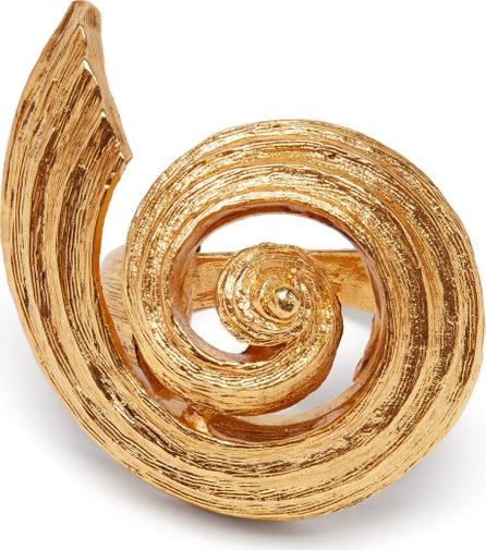 Oscar De La Renta Spiral shell ring