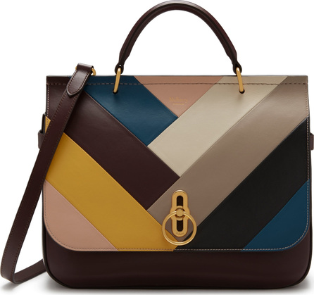 Mulberry Amberley Colorblock Top Handle Bag